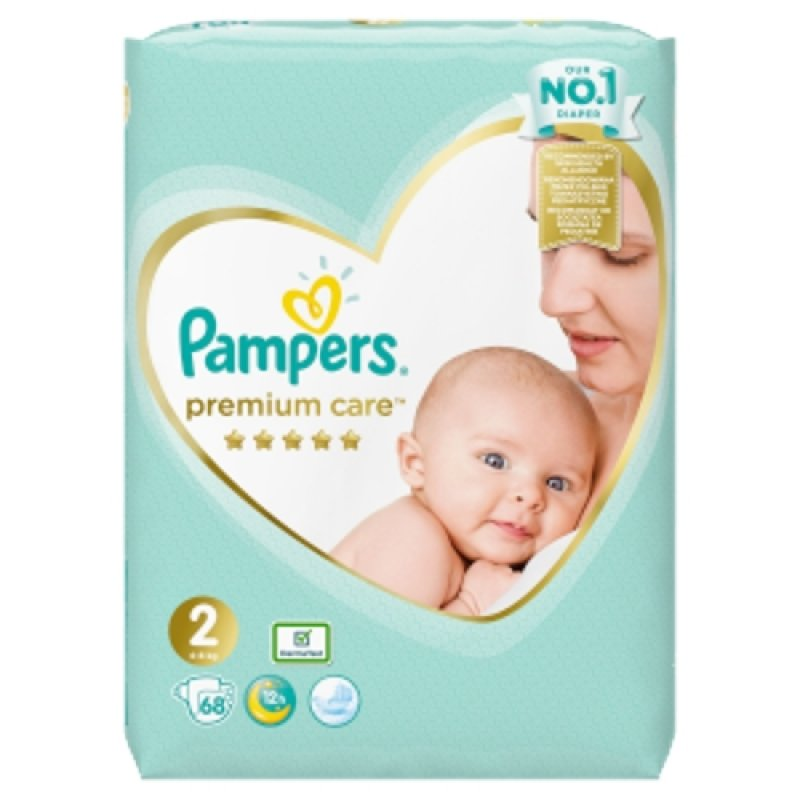 Pampers Premium Value Pack (68/fol)