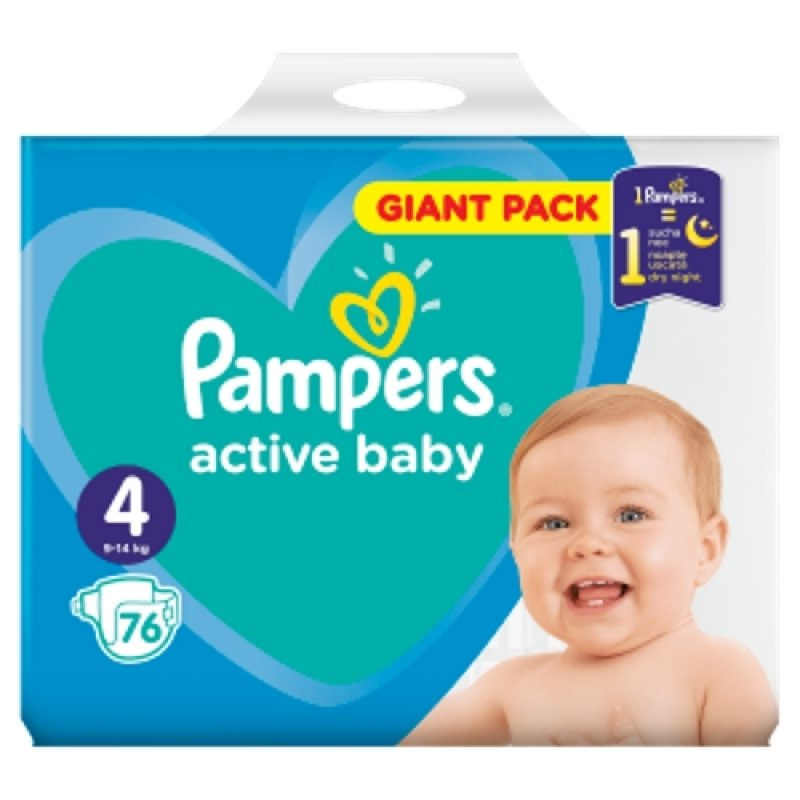 Pampers Giantpack Maxi (76ks/fol)