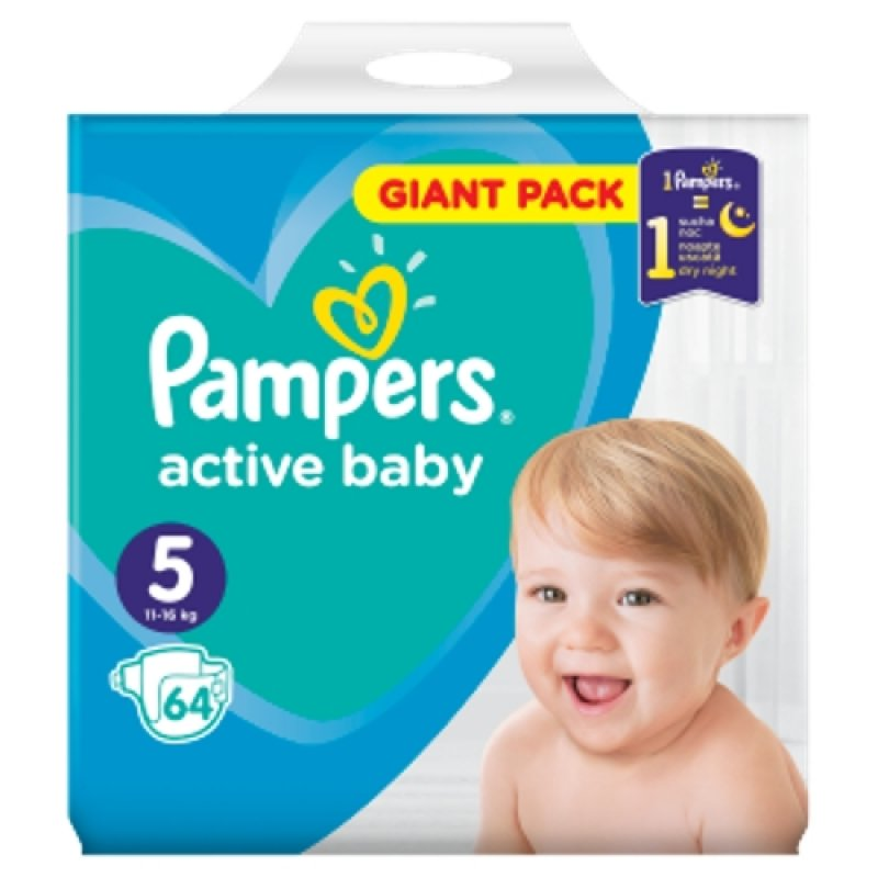 Pampers Giantpack Junior (64ks/fol