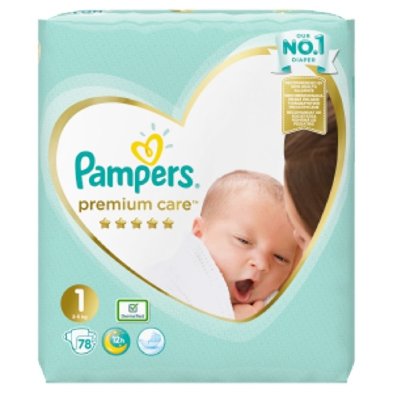 Pampers premium care 2-5kg  78 ks
